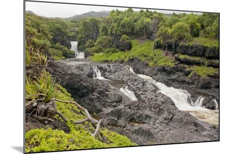 Hawaii, Maui, Hana, Seven Sacred Pools, a Large Stream and Waterfalls-Design Pics Inc-Mounted Photographic Print