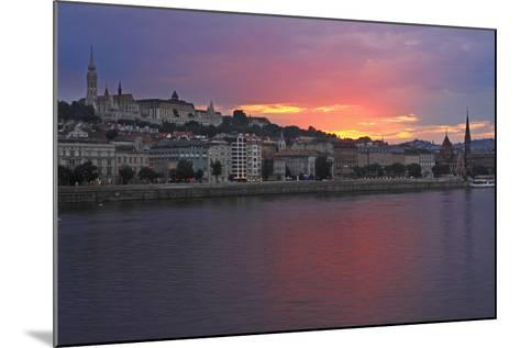 Sunset over Danube River; Budapest Hungary-Design Pics Inc-Mounted Photographic Print