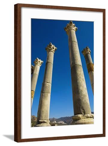 Column in Capitol in Ancient Roman City-Design Pics Inc-Framed Art Print