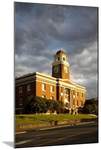 Sunlight Shines on a Courthouse in Port Angeles-Michael Hanson-Mounted Photographic Print