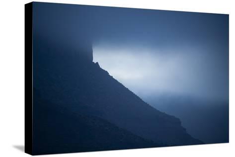 Dusk at Castleton Tower, Castle Valley, Utah-Keith Ladzinski-Stretched Canvas Print