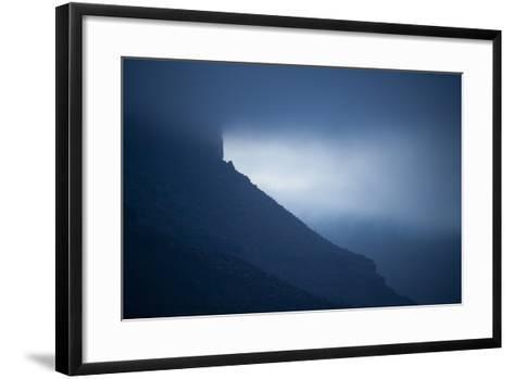 Dusk at Castleton Tower, Castle Valley, Utah-Keith Ladzinski-Framed Art Print