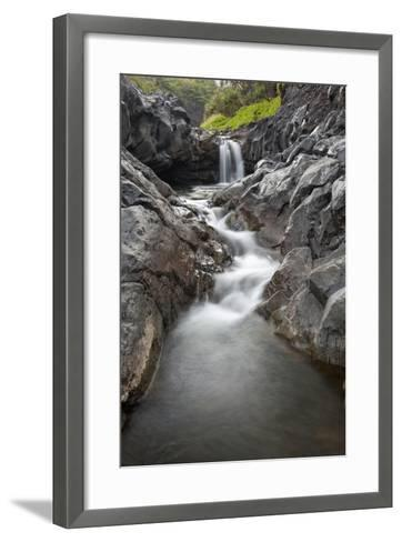 Hawaii, Maui, Hana, Seven Sacred Pools Waterfalls-Design Pics Inc-Framed Art Print