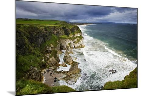 Churning Surf at White Rocks at Portrush on the North Coast of Northern Ireland-Chris Hill-Mounted Photographic Print