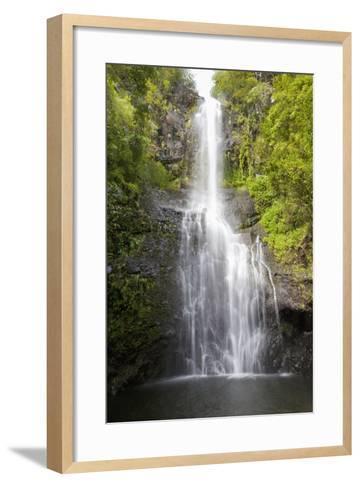 Hawaii, Maui, Hana, Close Up of Wailua Falls-Design Pics Inc-Framed Art Print
