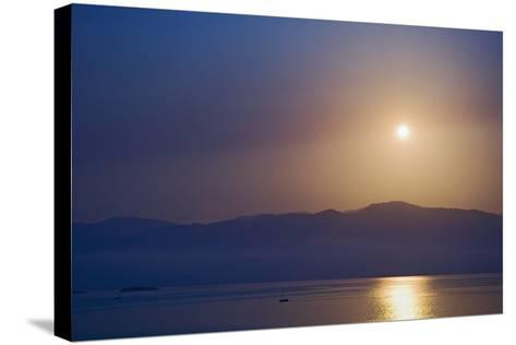 Sunset over Some of the Ionian Islands-Design Pics Inc-Stretched Canvas Print