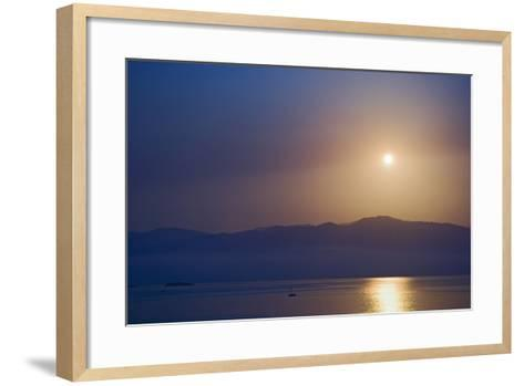 Sunset over Some of the Ionian Islands-Design Pics Inc-Framed Art Print