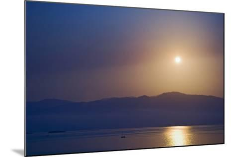 Sunset over Some of the Ionian Islands-Design Pics Inc-Mounted Photographic Print