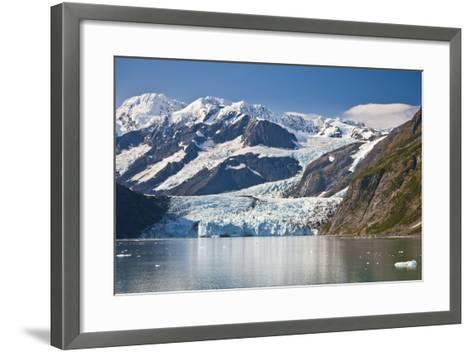 Scenic View of Stairway Glacier (R) Flowing into Surprise Glacier from Chugach Mountains-Design Pics Inc-Framed Art Print