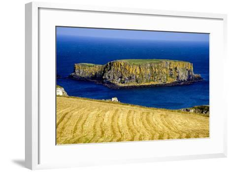 Sheep Island Near Carrick a Rede on the North Coast of Northern Ireland-Chris Hill-Framed Art Print
