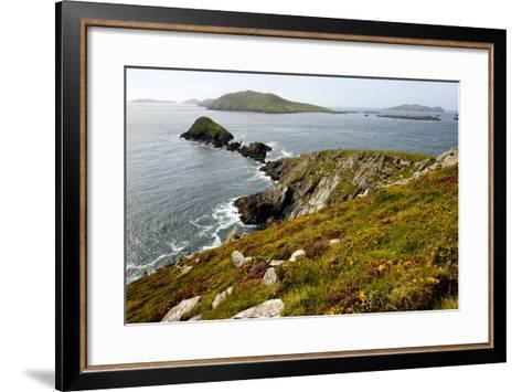 Blasket Islands from Dunmore Head, Dingle, Co. Kerry, Ireland-Chris Hill-Framed Art Print