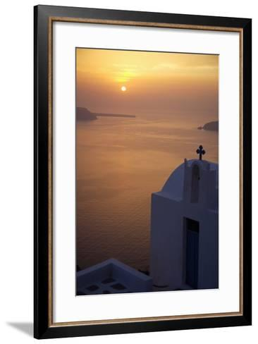 Whitewashed Chapel by Sea at Sunset-Design Pics Inc-Framed Art Print