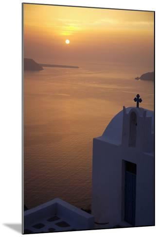 Whitewashed Chapel by Sea at Sunset-Design Pics Inc-Mounted Photographic Print