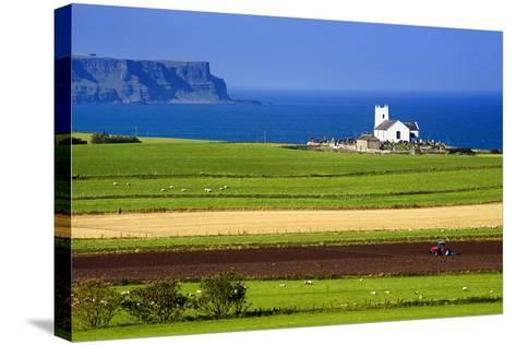 Church at Ballintoy on the North Coast of Northern Ireland-Chris Hill-Stretched Canvas Print