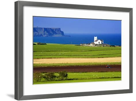 Church at Ballintoy on the North Coast of Northern Ireland-Chris Hill-Framed Art Print