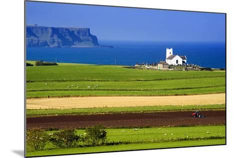 Church at Ballintoy on the North Coast of Northern Ireland-Chris Hill-Mounted Photographic Print
