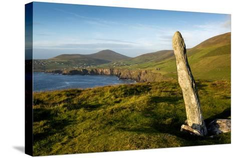 Standing Stone at Dunmore Head, Dingle, Co. Kerry, Ireland-Chris Hill-Stretched Canvas Print