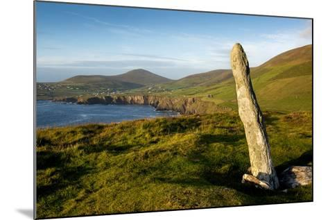 Standing Stone at Dunmore Head, Dingle, Co. Kerry, Ireland-Chris Hill-Mounted Photographic Print
