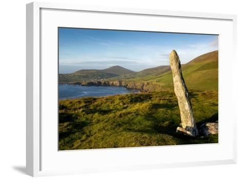 Standing Stone at Dunmore Head, Dingle, Co. Kerry, Ireland-Chris Hill-Framed Art Print