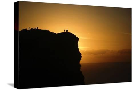Sunset at the Cliffs of Moher on the West Coast of Ireland-Chris Hill-Stretched Canvas Print
