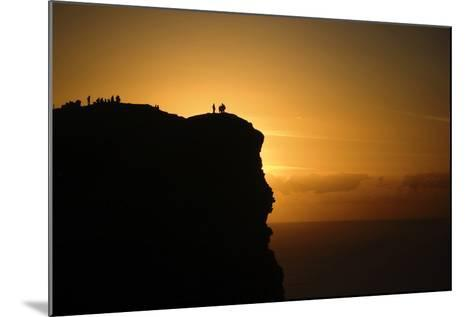 Sunset at the Cliffs of Moher on the West Coast of Ireland-Chris Hill-Mounted Photographic Print