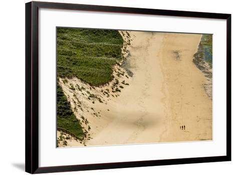 People Walking on Five Finger Strand in Donegal, Ireland-Chris Hill-Framed Art Print