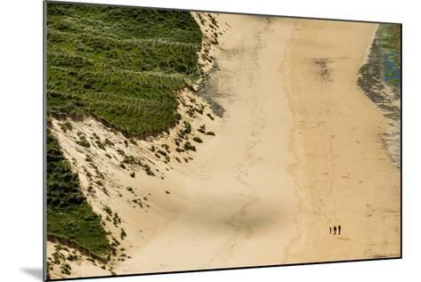 People Walking on Five Finger Strand in Donegal, Ireland-Chris Hill-Mounted Photographic Print