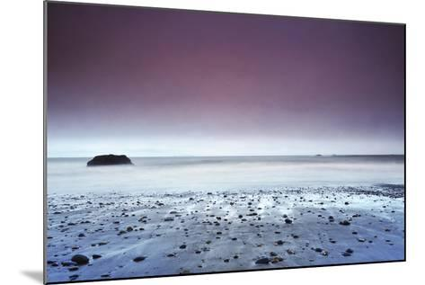 Sunset at Ruby Beach with Rock, Olympic National Park, Washington-Keith Ladzinski-Mounted Photographic Print