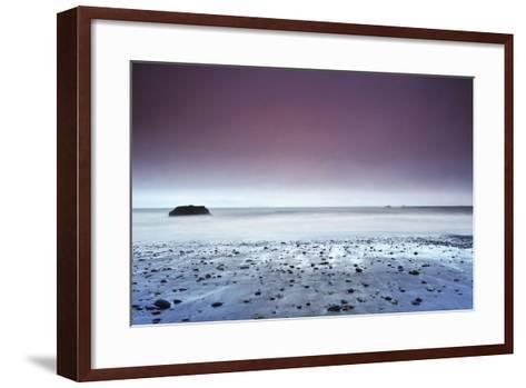 Sunset at Ruby Beach with Rock, Olympic National Park, Washington-Keith Ladzinski-Framed Art Print