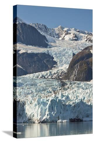 Scenic View of Stairway Glacier (R) Flowing into Surprise Glacier from Chugach Mountains-Design Pics Inc-Stretched Canvas Print