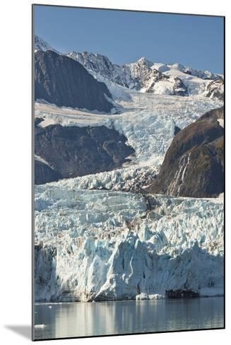 Scenic View of Stairway Glacier (R) Flowing into Surprise Glacier from Chugach Mountains-Design Pics Inc-Mounted Photographic Print