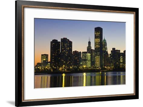 Chicago Skyline at Night-Design Pics Inc-Framed Art Print
