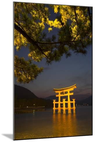 The 'Floating' Torii Gate of the Itsukushima Shinto Shrine, Illuminated at High Tide-Macduff Everton-Mounted Photographic Print