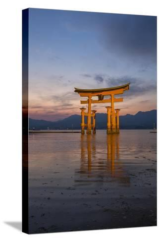 The 'Floating' Torii Gate of the Itsukushima Shinto Shrine, at High Tide-Macduff Everton-Stretched Canvas Print
