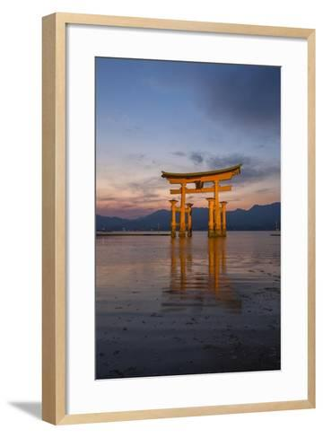 The 'Floating' Torii Gate of the Itsukushima Shinto Shrine, at High Tide-Macduff Everton-Framed Art Print