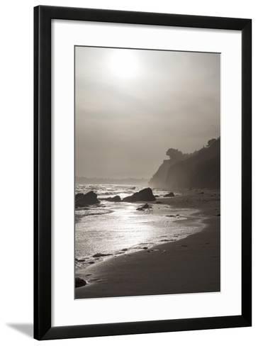 A View of the Coastline at Sunset Near Arroyo Burro Beach-Macduff Everton-Framed Art Print