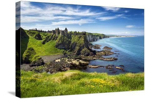 Dunluce Castle on the North Coast of Northern Ireland-Chris Hill-Stretched Canvas Print