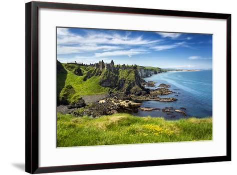 Dunluce Castle on the North Coast of Northern Ireland-Chris Hill-Framed Art Print