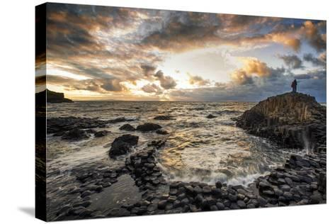 Sunset at the Giant's Causeway in Northern Ireland-Chris Hill-Stretched Canvas Print