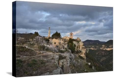 Sunset at the Village of Siurana, Spain-Keith Ladzinski-Stretched Canvas Print