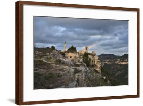 Sunset at the Village of Siurana, Spain-Keith Ladzinski-Framed Art Print