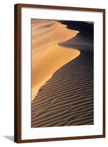 A Sand Dune at Sunset, Great Sand Dunes National Park and Preserve, Colorado-Keith Ladzinski-Framed Art Print