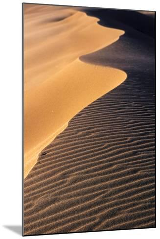 A Sand Dune at Sunset, Great Sand Dunes National Park and Preserve, Colorado-Keith Ladzinski-Mounted Photographic Print