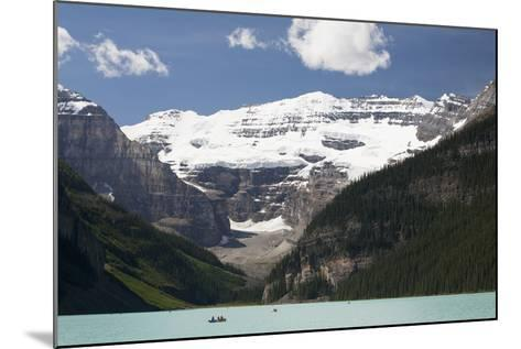Mount Victoria and Lake Louise with Canoes-Design Pics Inc-Mounted Photographic Print