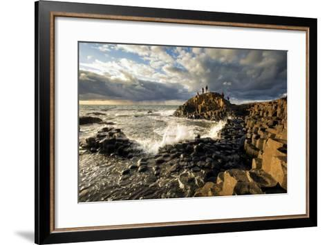 Sunset at the Giant's Causeway in Northern Ireland-Chris Hill-Framed Art Print