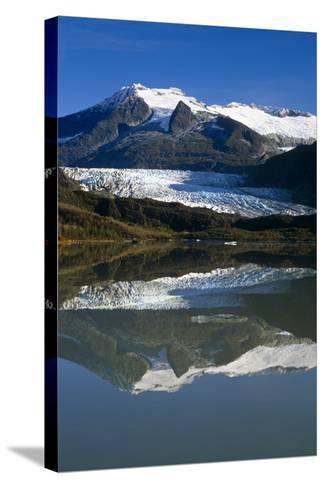 Mendenhall Glacier Reflects in its Own Lake Near Juneau-Design Pics Inc-Stretched Canvas Print