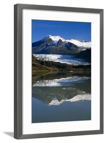 Mendenhall Glacier Reflects in its Own Lake Near Juneau-Design Pics Inc-Framed Art Print