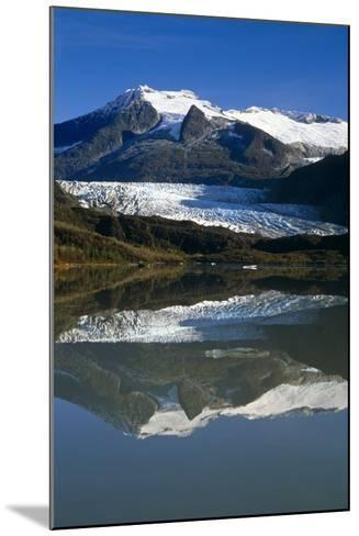 Mendenhall Glacier Reflects in its Own Lake Near Juneau-Design Pics Inc-Mounted Photographic Print