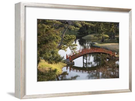 A Footbridge over Water in a Garden-Macduff Everton-Framed Art Print