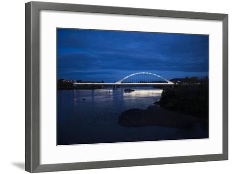 The Lusitania Bridge at Night over the Guadiana River-Macduff Everton-Framed Art Print